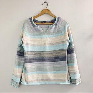 Eddie Bauer Women's Thick Striped Sweater Sz M